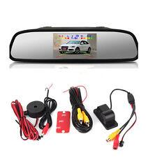 Car Parking Reversing Radar Alarm System Camera  Rearview Mirror Display Monitor