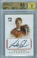 LUKE SCHENN 2007-08 ITG IN THE GAME O CANADA RC ROOKIE AUTO AUTOGRAPH BGS 9.5