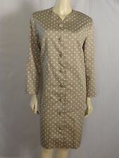Vintage Paquin Leonard Rutan polka dots long sleeved button front dress size 12
