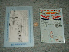 Microscale decals 1/72 72-317 F-4 A-7 AD-6 F4U-4 carrier air wing 4  F126