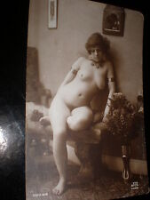 Old postcard nude woman jewellry French JA Paris serie 616 c1910s - 1920s