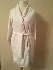 Secret Possessions 12/13. Lovely Soft White Dressing Gown Has pink piping