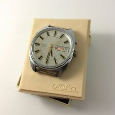 Solid Vintage USSR Mechanical (Automatic) mens watch SLAVA in box Slava day date