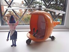 BEN AND HOLLY'S LITTLE KINGDOM WISE OLD ELF FIGURE AND HELICOPTER WITH SOUNDS