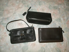Coach ladies 3 pc. leather small wristlet lot