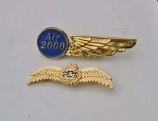 Air 2000 & other airline ? Military pin badges Airlines wings