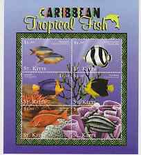 St Kitts - Caribbean Tropical Fish, 2001 - Sc 488 Sheetlet of 6 MNH