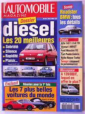 L'Automobile 8/1994; Essais Diesel, les 20 meilleurs/ Les 7 + belles voitures