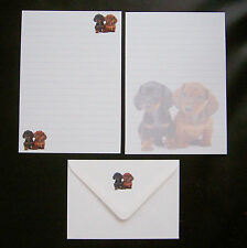 Dachshund Puppies Dog Hound Letter Writing Paper Stationery Set