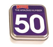 Lagoon GAMES l'incroyable numéro 50 plateau de table tin Fun Facts 50e Anniversaire Cadeau