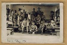 Carte Photo Nice caserne Filley chambrée 1930 service militaire m0259