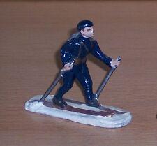 orig. alter Soldat mit Ski - Gebirgsjäger, Alpinieri in dkl-blauem Schneeanzug !