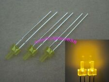 100pcs New 2mm Yellow Diffused LED Flat Top Leds Light Bulb + Resistors for 12V