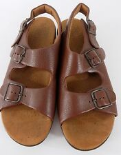 SAS Tripad Bravo Brown Leather Ankle Strap Sandals Men's Size 10 N