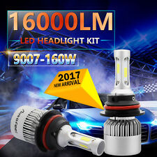 2x 9007 HB5 160W 16000LM CREE COB LED Headlight Kit Hi/Lo Power Bulbs 6500K HID