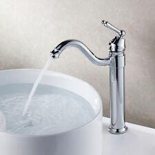 Bathroom Countertop Basin Mixer Tap Chrome Finish Bath Sink Faucet