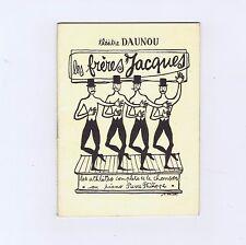 LES FRERES JACQUES  PROGRAMME THEATRE DAUNOU 1953