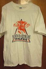 NORTH BALTIMORE lrg T shirt Tigers football Ohio beat-up tee Division 6