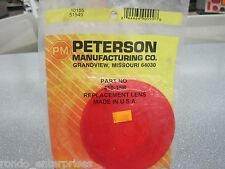 PM Peterson 410-15R red round replacement tail lens for 413, 413S & 425