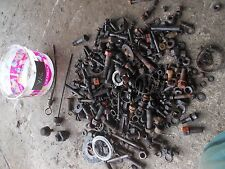 Case VAC Tractor box misc bolts nuts parts pieces bolts cover caps oil dip stick