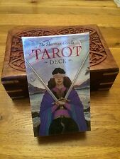 Sharman Caselli Tarot Cards And Hand Carved Wooden Box