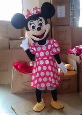 Mrs. Minnie Mouse mascot cartoon costume Adult Size Halloween Costumes Deluxe