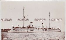 "French Navy Real Photo RPPC. ""Forbin"" Protected Cruiser. Arsenal Rochefort. 1895"