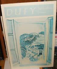 """RAOUL DUFY """"OPEN WINDOW AT SAINT JEANNET 1986 COLOR POSTER"""