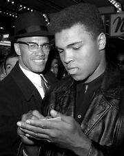 1965 Cassius Clay MUHAMMAD ALI & MALCOLM X Glossy 8x10 Photo Print Poster