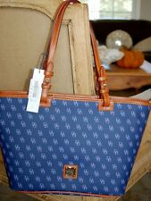 DOONEY & BOURKE NG352 GRETTA LEISURE SHOPPER BLUE LAVENDER TOTE BAG NEW NWT $198