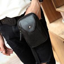 Men PU Leather Hook Shoulder Messenger Belt Hip Bum Fanny Pack Waist Bag Pouch