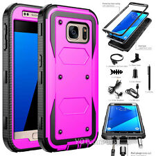 Slim Hybrid Armor Hard Protective Skin Protector Phone Case Cover + Accessory