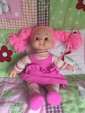 Simba Puppe pinke Haare Kunststoff Kopf weicher Körper 35 cm