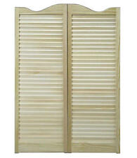 "CAFE DOORS 30""x42"" Pine Swinging Saloon Wooden Western Tavern Louvered FREE SHIP"