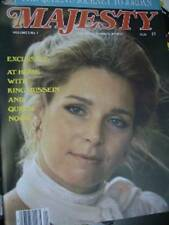 Majesty Magazine V5 #1 King Hussein & Queen Noor, Queen & Philip In Jordan, Marg