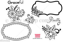 Unity Stamp Enchanted Garden Pre Cut Unmounted Red Rubber Stamp