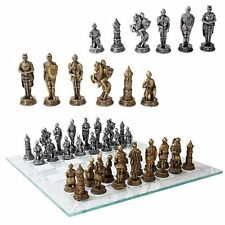 Medieval Knight War Chess Pieces and Glass Board Games and Toys