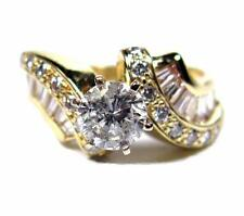 Engagement Women Ring 1.78CTW Diamond 0.78CT SOLITIRE round 14K Yellow Gold
