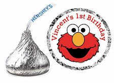 108 ELMO SESAME STREET BIRTHDAY PARTY FAVORS HERSHEY KISS LABELS