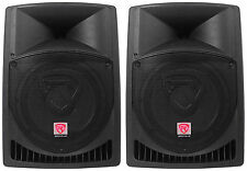 "Pair Rockville Power Gig RPG12 12"" Powered Active 1600 Watt 2-Way DJ PA Speakers"