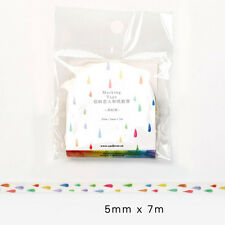 New Design 5mm×7M DIY paper Sticky Adhesive Sticker Decorative Washi Tape AS26