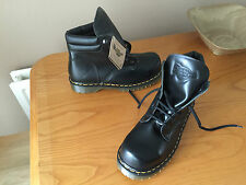 Vintage Dr Martens 2239 Z Black leather boots UK 7 EU 41 steel England goth 1460