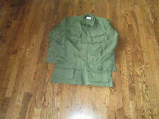 vietnam jacket ,poplin ,100% cotton, slant pockets,1969, nos,large short
