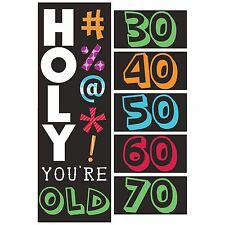 5ft Holy Bleep! How Old Happy Birthday Personalize Party Banner Decoration