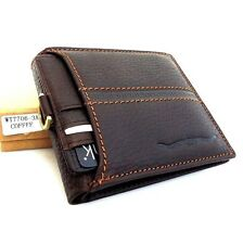 Men's Full Leather Wallet 6 Cards Slots 2 id Windows 2 Bill Compartments Bifold
