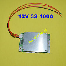 12V 3S PCM BMS 100A for automobile motocycle starting DIY Li-ion LiPO battery