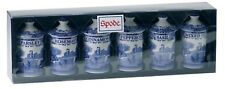 Spode Blue Italian  Spice Jar  Set of 6