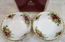 2X Fruit / Dessert Bowls Royal Albert China Old Country Roses England NEW In Box