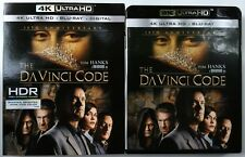 THE DA VINCI CODE 4K ULTRA HD UHD BLU RAY 3 DISC SET + SLIPCOVER SLEEVE 10TH ANN