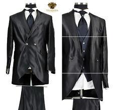 *418* 7-teiliger Cutaway Hochzeitsanzug - edler Herrenanzug in Schwarz / Gr.54